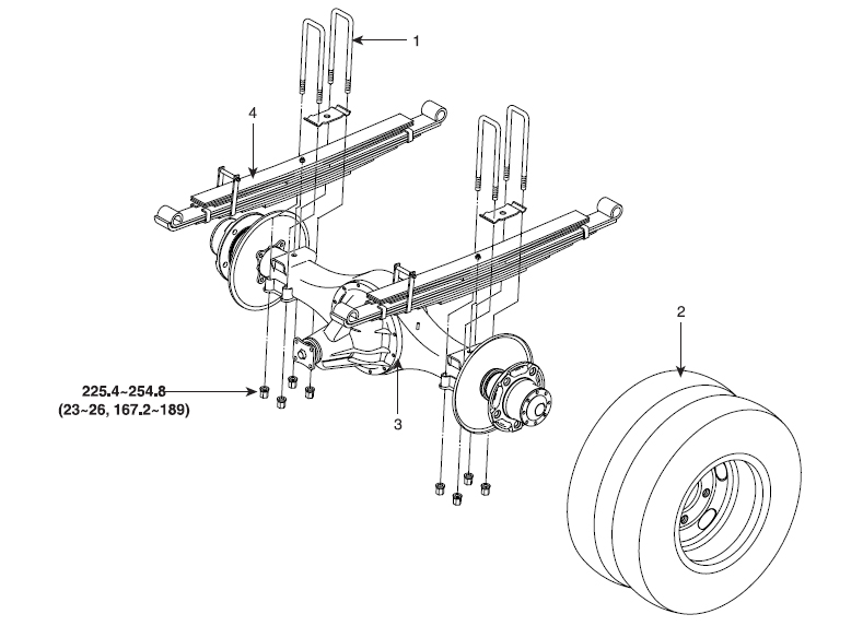 Крепление задних рессор HD78